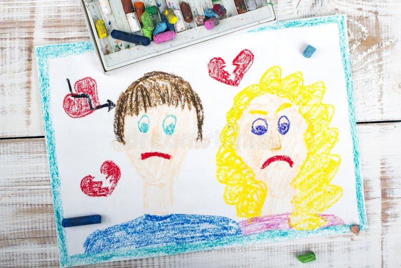Représentation de divorce photographie stock libre de droits