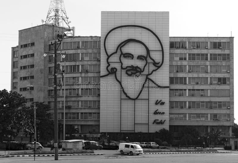 Représentation de Fidel Castro photographie stock libre de droits