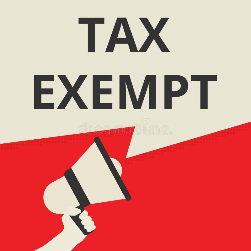 Représentation de signe des textes exempte d'impôts illustration libre de droits