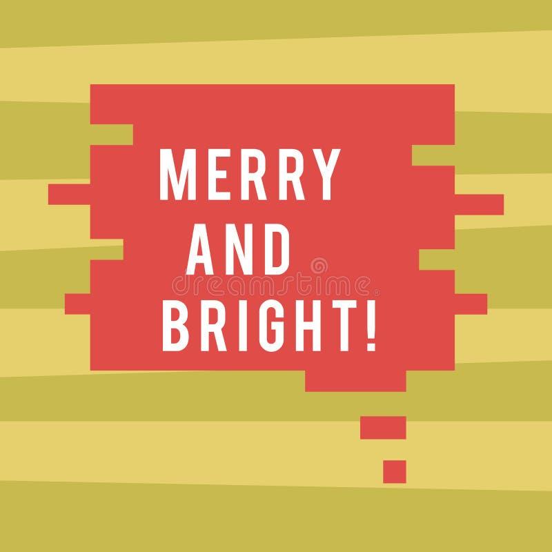 Représentation de signe des textes joyeuse et lumineuse La photo conceptuelle a défini l'argot rimant de cockney de Londres pour  illustration de vecteur