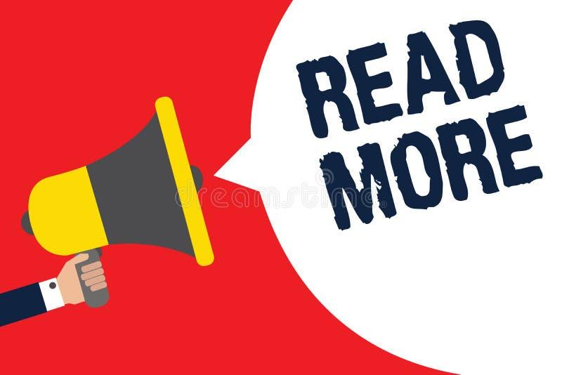 Représentation de signe des textes lue la suite La photo conceptuelle fournissent plus d'heure ou de lecture complète pour un hom illustration stock