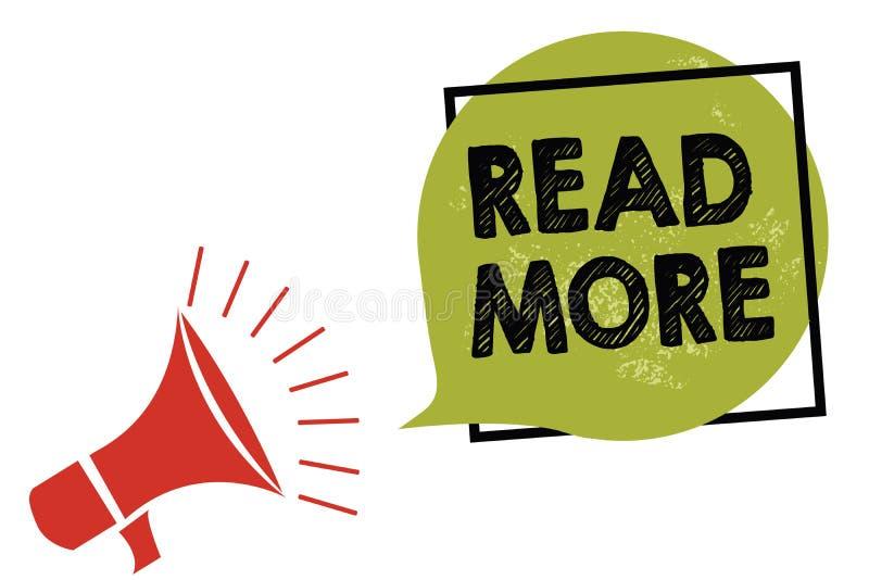 Représentation de signe des textes lue la suite La photo conceptuelle fournissent plus d'heure ou de lecture complète pour un lou illustration stock