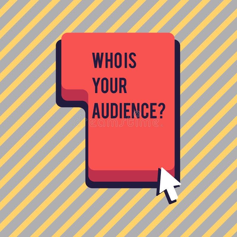 Représentation de signe des textes qui est votre question d'assistance Photo conceptuelle qui est observante ou écoutante lui dir illustration libre de droits