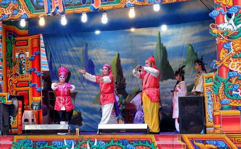 Représentation folklorique d'opéra de Taïwan photo stock