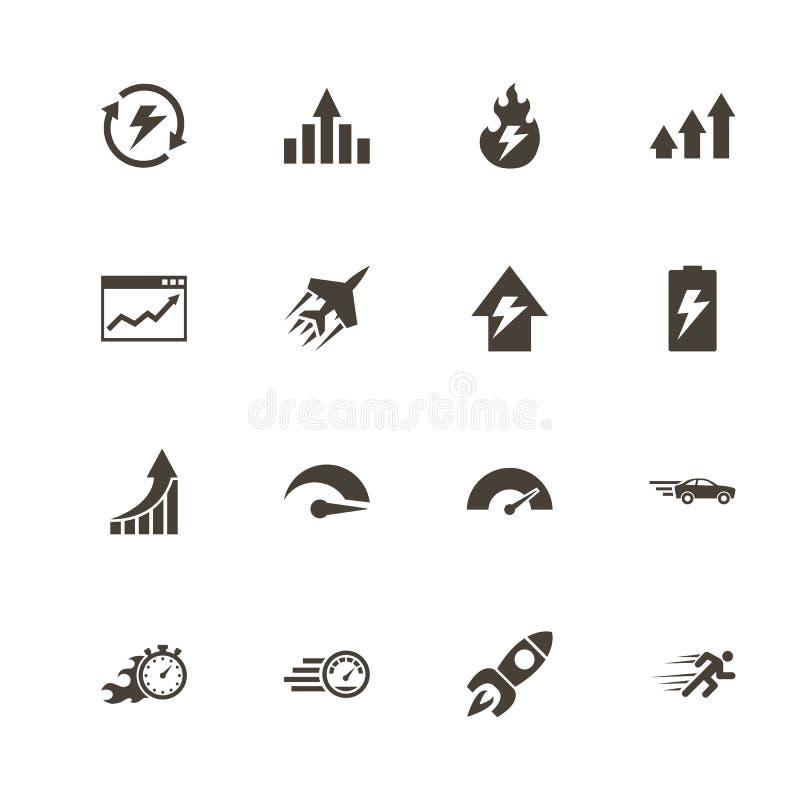 Représentation - icônes plates de vecteur illustration de vecteur