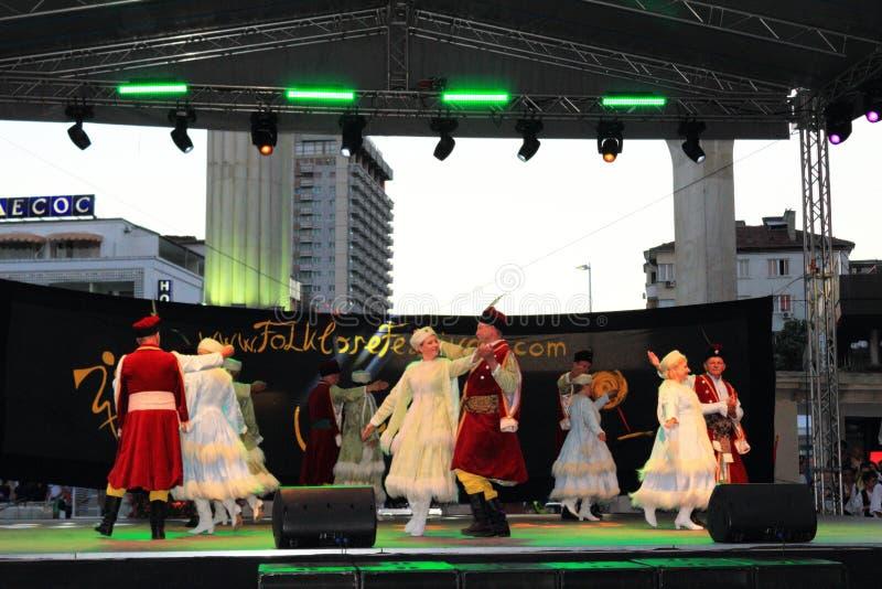 Représentation polonaise d'étape de danse traditionnelle image libre de droits