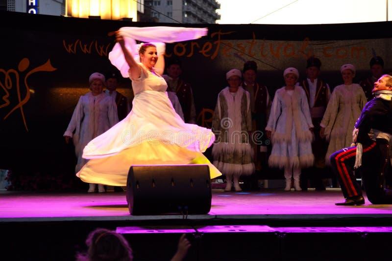 Représentation polonaise d'étape de danseurs photo libre de droits