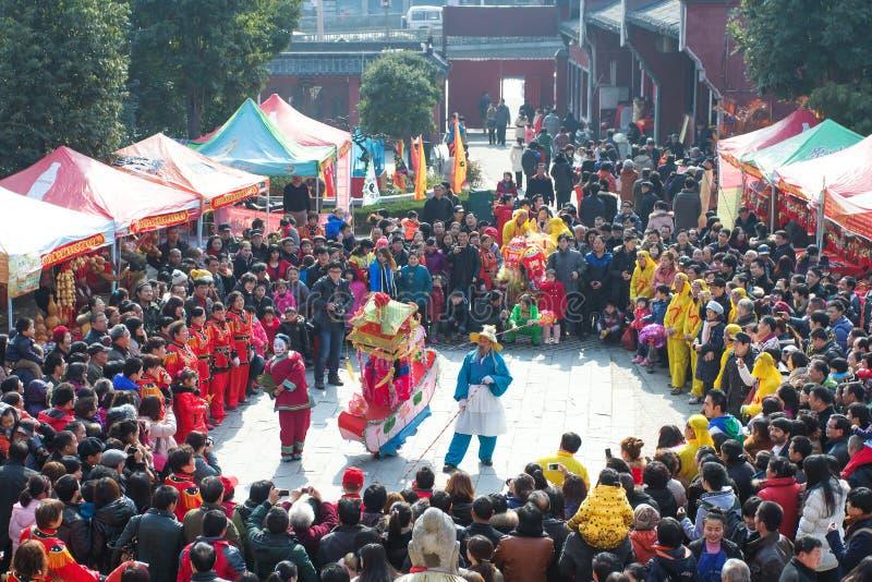 Représentation traditionnelle lunaire de nouvelle année du ` s de la Chine photographie stock libre de droits