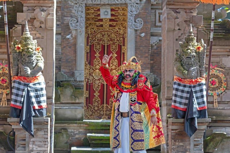 Repr?sentation de danse de Barong, danse traditionnelle de Balinese photographie stock libre de droits