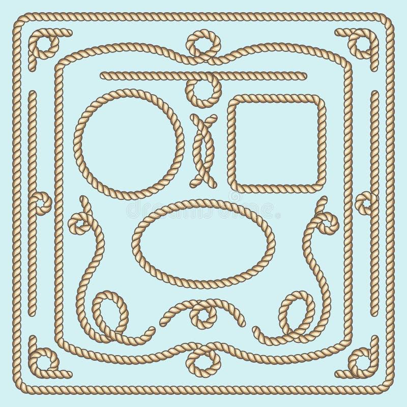 Repramen, knyter och tränga någon Dekorativa beståndsdelar för vektor vektor illustrationer