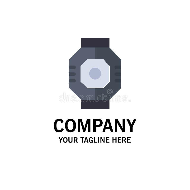 Represa, cápsula, componente, módulo, negócio Logo Template da vagem cor lisa ilustração do vetor