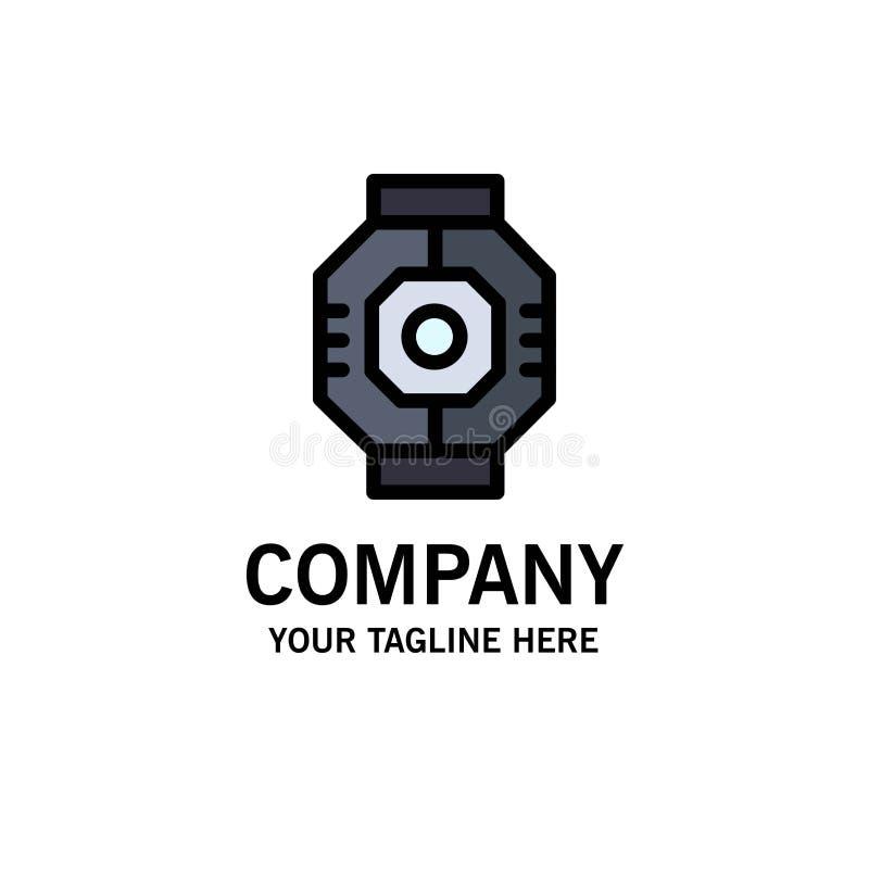 Represa, cápsula, componente, módulo, negócio Logo Template da vagem cor lisa ilustração royalty free