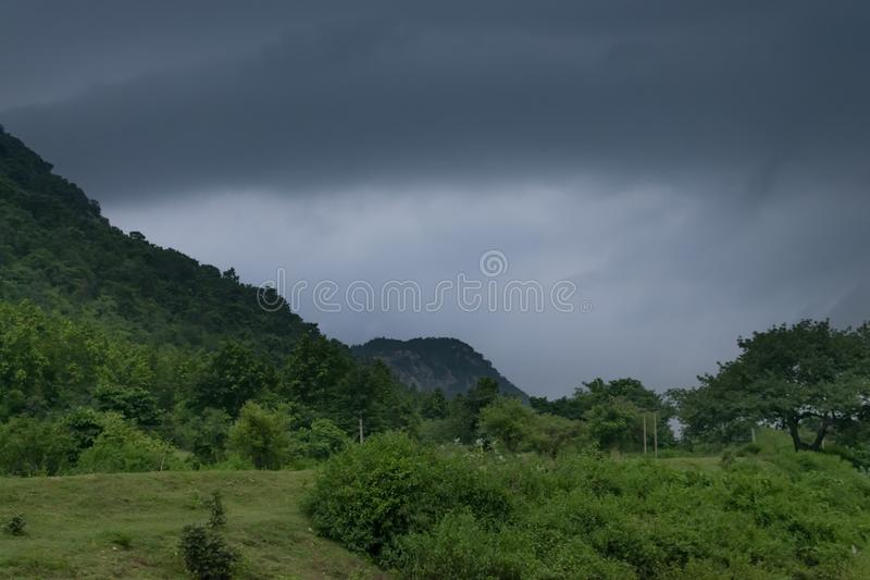 Represa da ?gua de Khoyraberhi - Purulia, Bengal ocidental, ?ndia fotografia de stock royalty free
