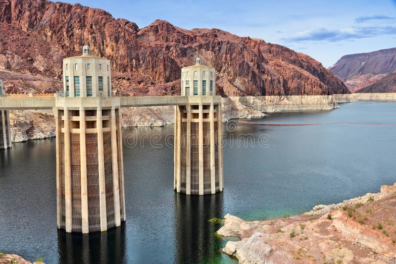Represa de Hoover, EUA imagem de stock royalty free