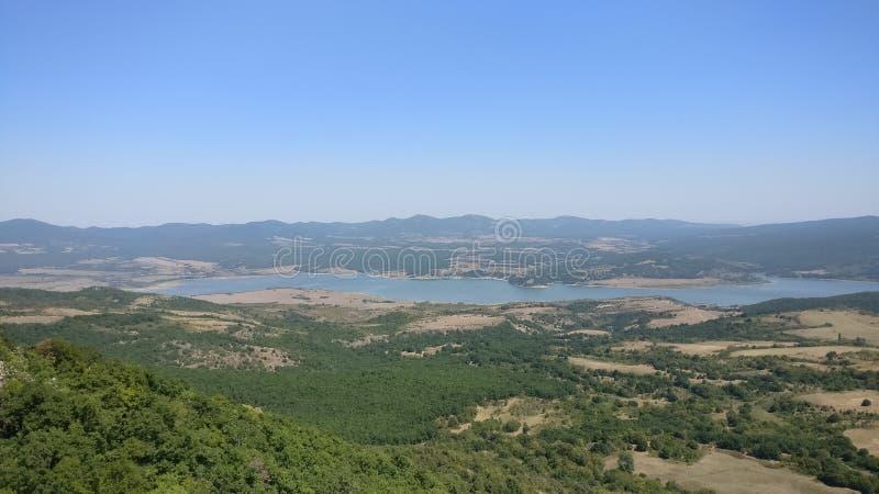 Represa de Ivaylovgrad imagens de stock