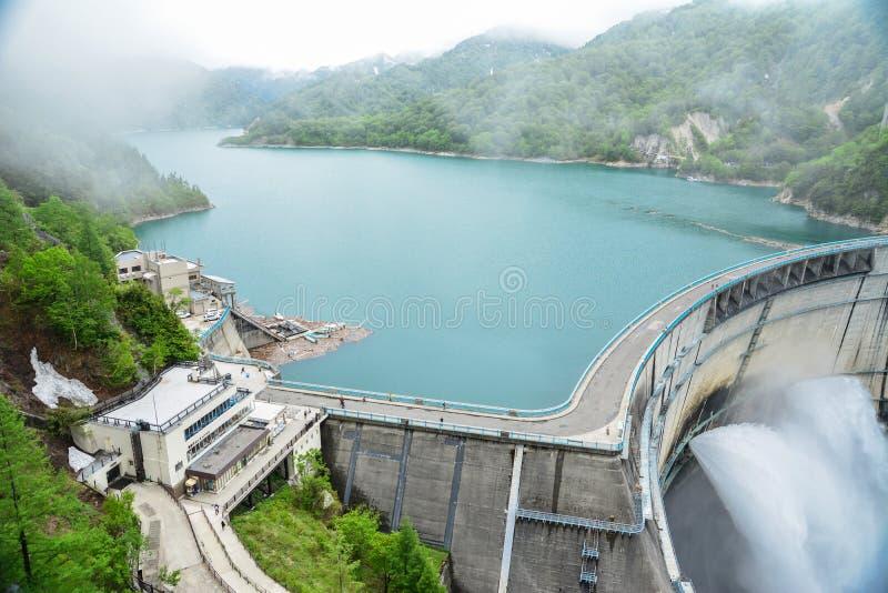Represa de Kurobe imagens de stock
