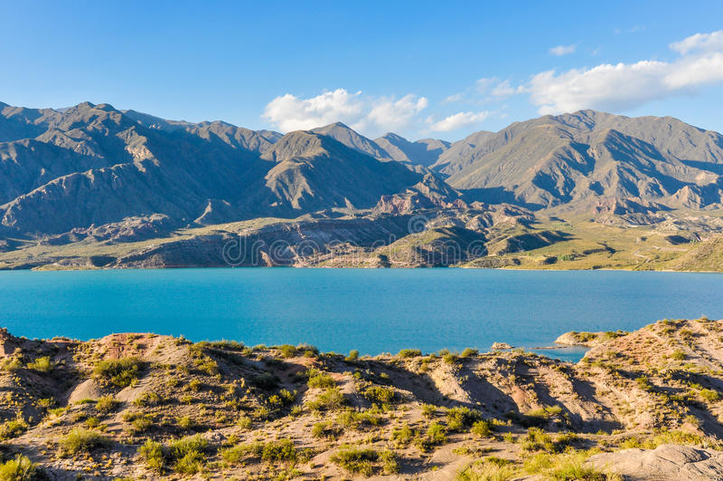 Represa de Potrerillos, Mendoza, Argentina imagens de stock