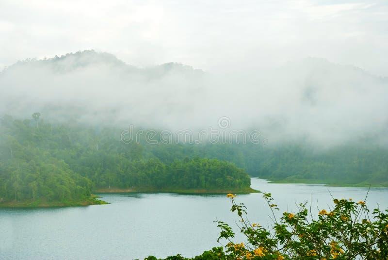 Represa de Ratchaprapha da represa do parque nacional, Tailândia foto de stock