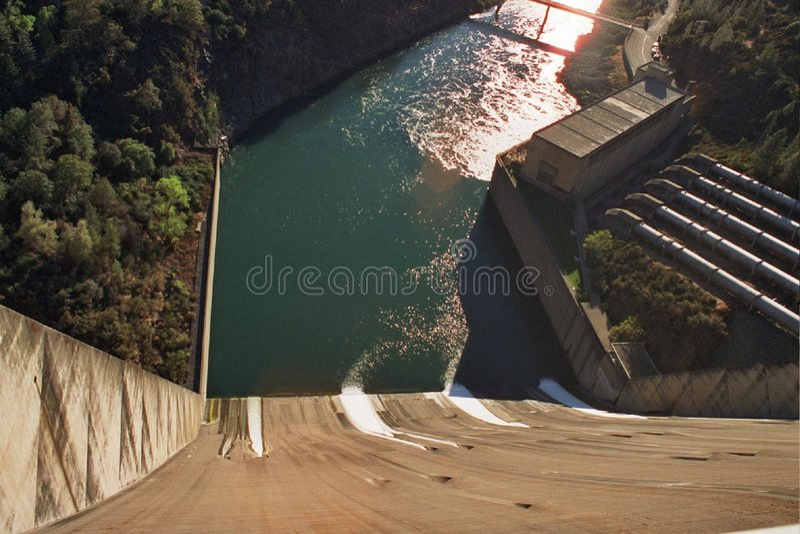 Represa De Shasta Imagem de Stock Royalty Free