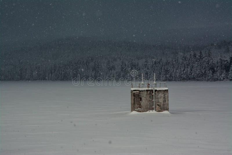 Represa de Sous no inverno foto de stock