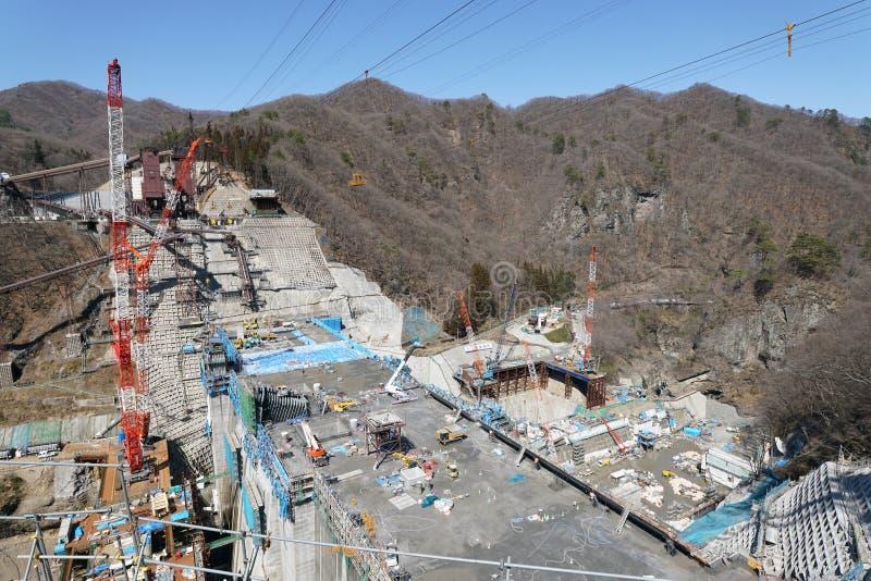 Represa de Yanba sob a construção foto de stock