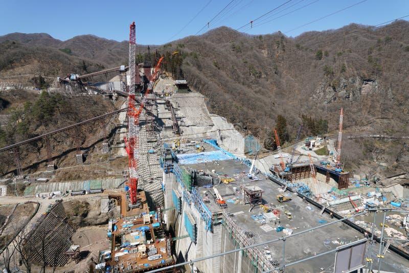 Represa de Yanba sob a construção fotos de stock