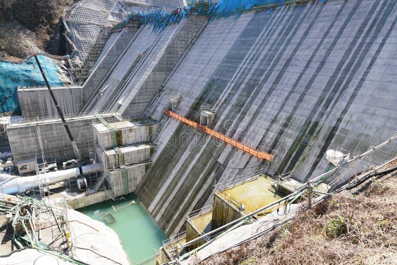 Represa de Yanba sob a construção fotografia de stock