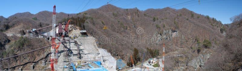 Represa de Yanba sob a construção fotos de stock royalty free