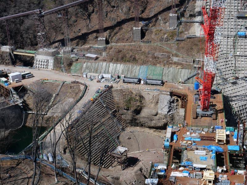 Represa de Yanba sob a construção imagens de stock