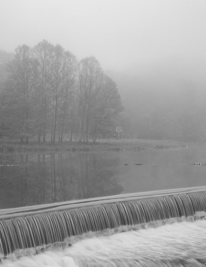 Represa do lago Beebe em Cornell University imagem de stock royalty free
