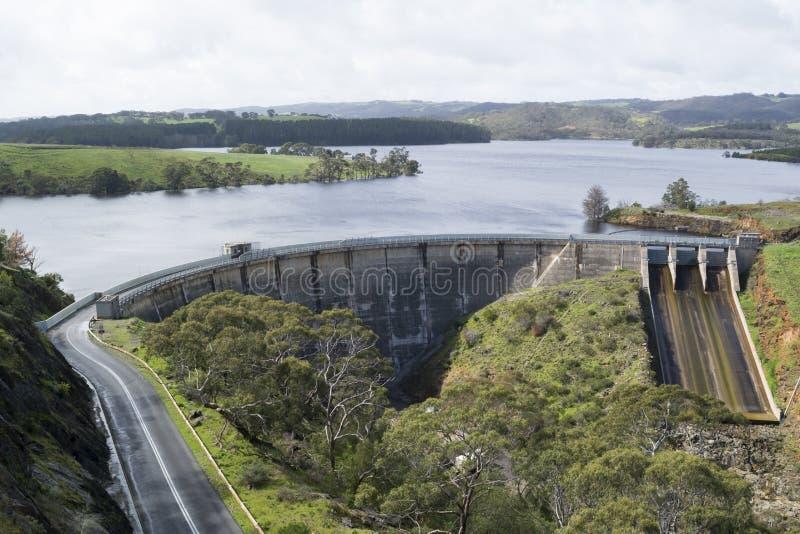 Represa do reservatório de Myponga, Myponga, Sul da Austrália fotografia de stock royalty free