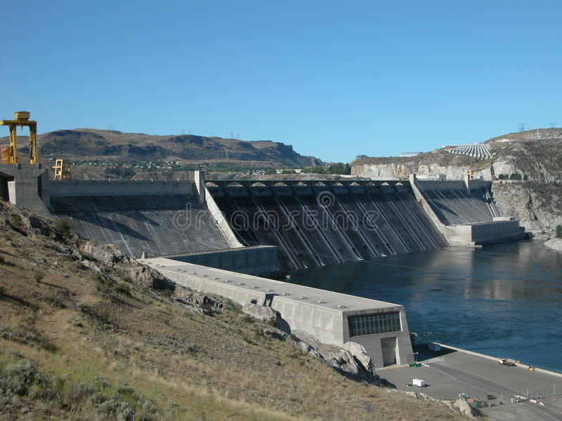 Represa grande de Coulee - Washington imagens de stock royalty free
