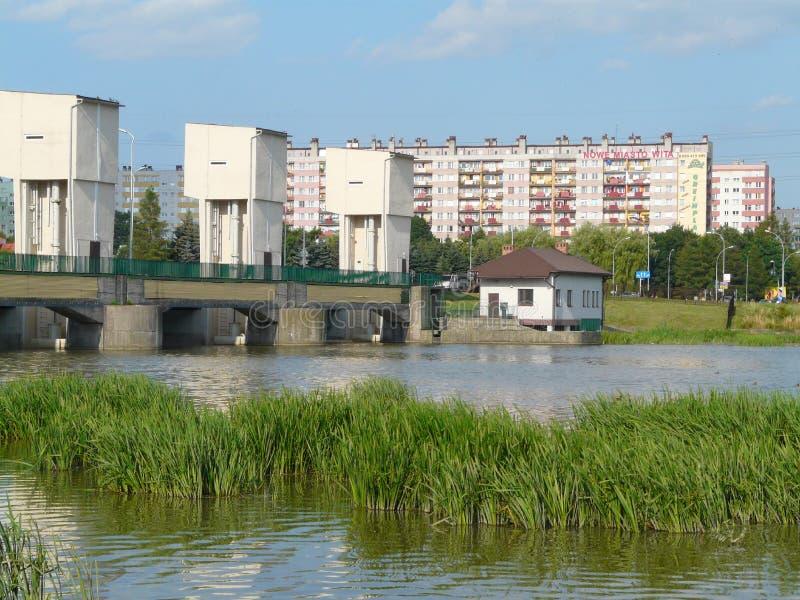 Represa no rio de Wislok, Pol?nia de RZESZOW-The fotografia de stock royalty free