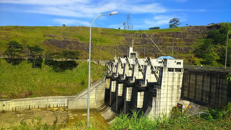 Represa superior de Kothmale foto de stock