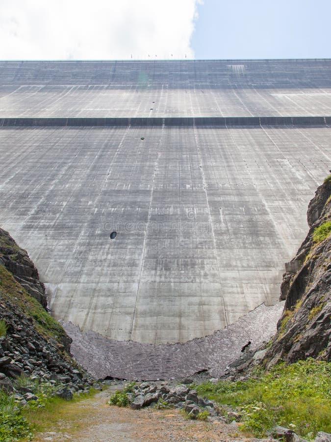Represe Dixence grandioso - a represa a mais alta da gravidade dos mundos fotos de stock royalty free