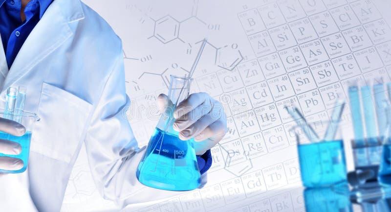 Representação das ciências químicas que ensinam o conceito fotos de stock