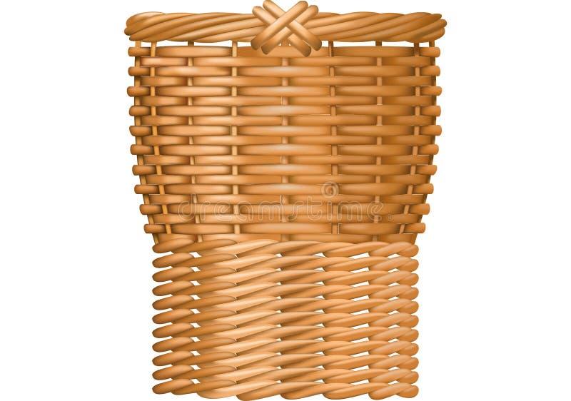 Representação em gráficos de vetor de uma cesta de vime ilustração royalty free