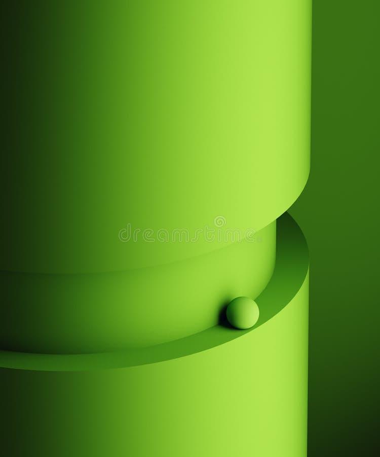 Representación abstracta 3D de formas geométricas Composición de Minimalistic Concepto del balance Diseño moderno del fondo para fotografía de archivo