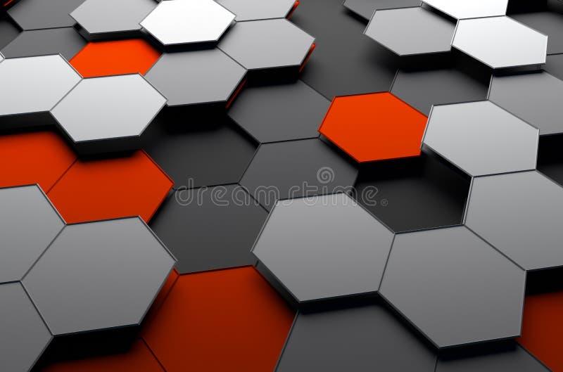 Representación abstracta 3d de la superficie futurista con imagen de archivo
