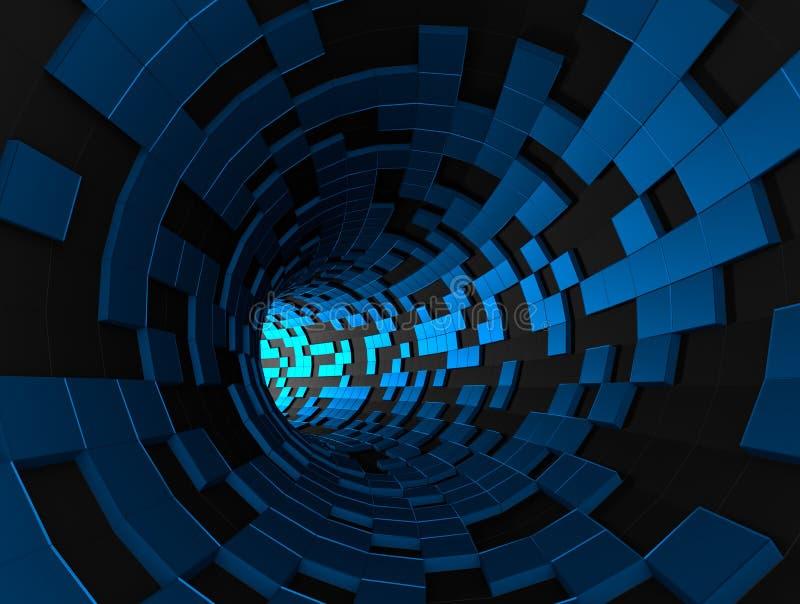 Representación abstracta 3d del túnel futurista fotos de archivo