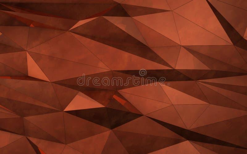 Representación abstracta del cobre 3d stock de ilustración