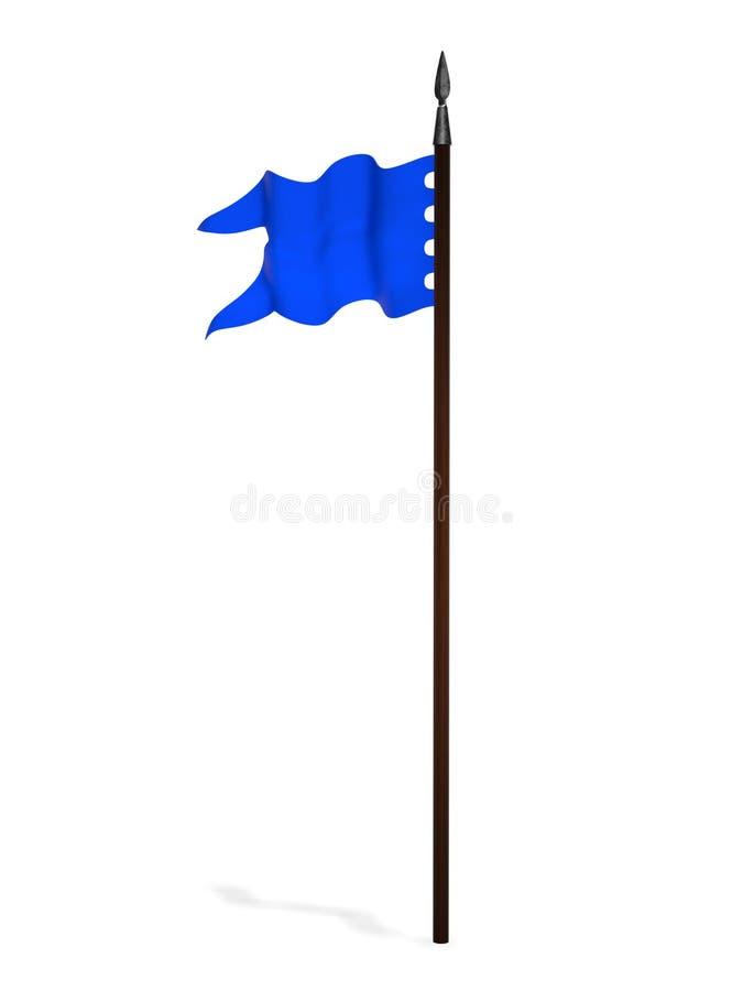 Representación azul antigua de la bandera de batalla 3d libre illustration