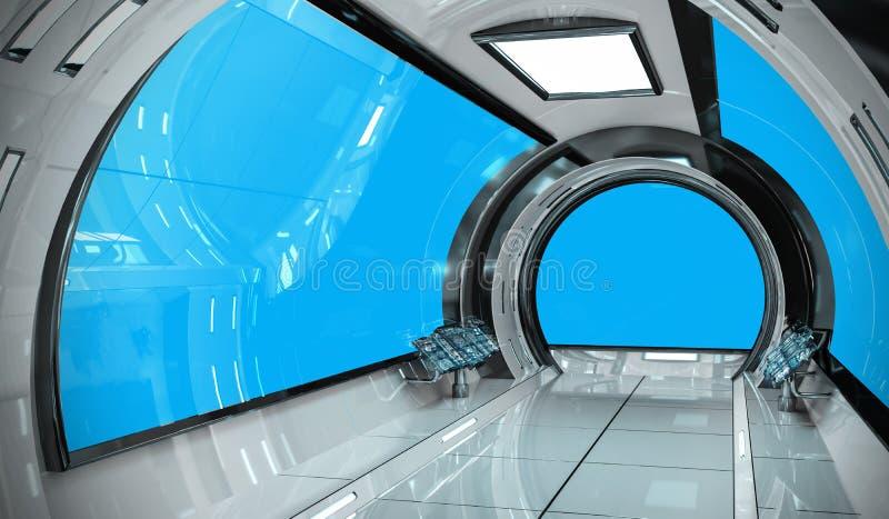 Representación brillante del interior 3D de la nave espacial libre illustration