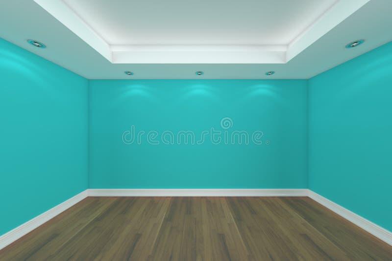 Representación casera del interior 3D con el sitio vacío ilustración del vector
