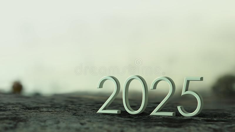 representación 2025 3d ilustración del vector