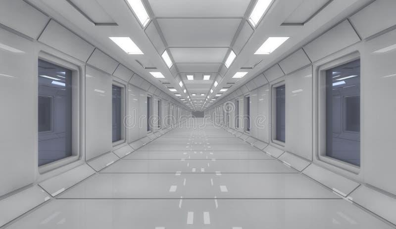 representación 3d Configuración interior futurista imagenes de archivo