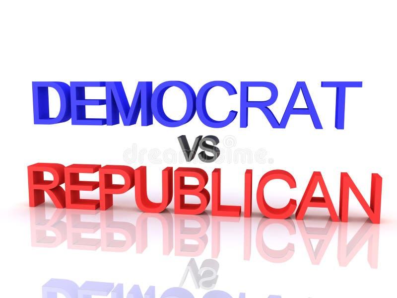 representación 3D de Demócrata contra el texto republicano libre illustration