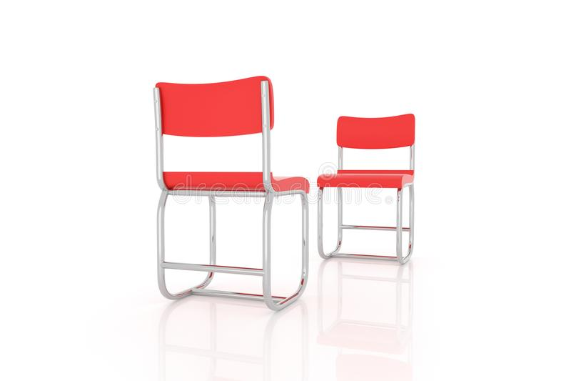 representación 3d de dos sillas que se hacen frente libre illustration