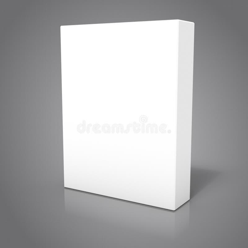 representación 3d de la caja aislada del software fotografía de archivo