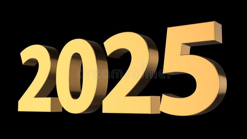 representación 3d de la Feliz Año Nuevo Feliz Navidad con el backgr negro stock de ilustración